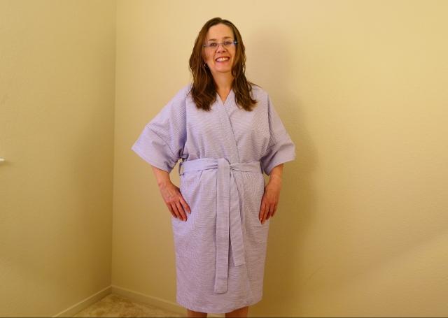 Striped Cotton Robe
