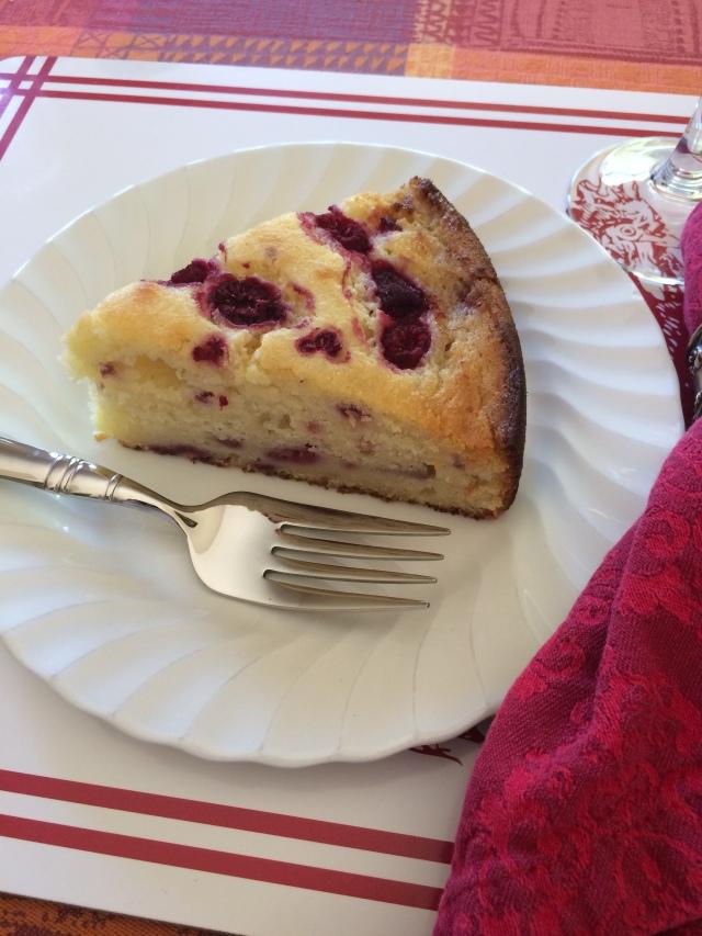 Raspberry Ricotta Cake Slice