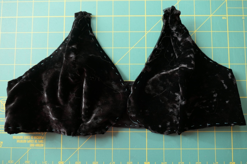Madalynne Barrett bralette contruction with hand basting