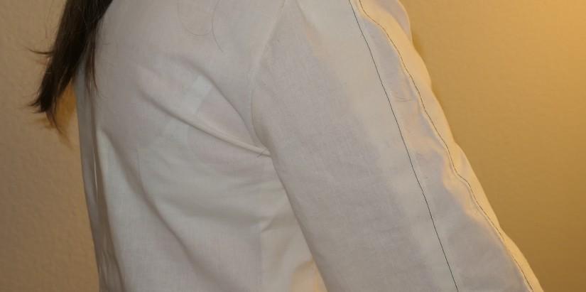 Blue Gingham Blouse Muslin - Wrinkle under Armsyce